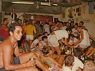 Typical evening in Marine Bar 1975. The lad in foreground is Tony Alphonse I think